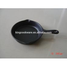 cozinha redonda frigideira de ferro fundido mini / frigideira