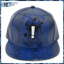 Wholesales muitos estilo design seu próprio chapéu de snapback de couro
