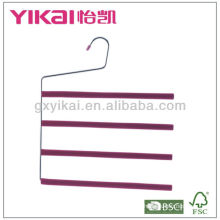 Juego de suspensión de pantalones de metal cubierto de espuma EVA de 3pcs con 4 niveles de barra de pantalones