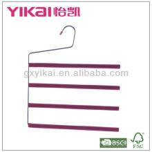 Conjunto de 3pcs espuma EVA revestido cabide de calças de metal com 4 camadas de barra de calças