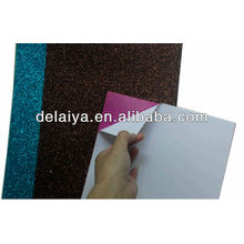 Various colors glitter EVA foam sheet with adhesive