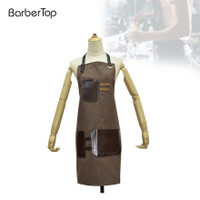 Waterproof Heavy Duty Waxed Canvas and PU Leather Work Tool Apron Barber Salon Beauty Tool Cape