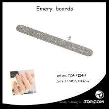 Сияющая алмазная пилка для ногтей, пенопластовая доска, наждачная доска