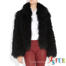 2014 new luxurious mongolian fur women winter coat