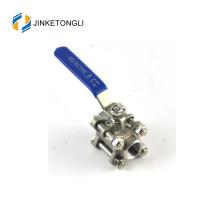 JKTL3B044 resorte con cierre de válvula de bola ss316 del tanque de agua de 3 piezas