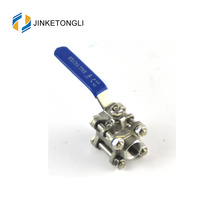 JKTL3B044 spring loaded 3 piece water tank ss316 ball valve lockout