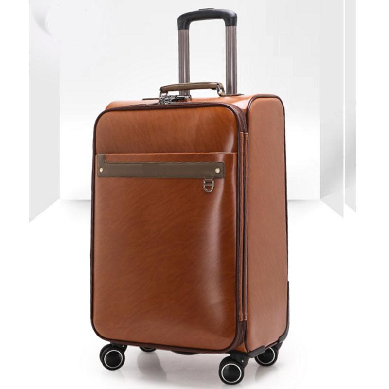 4 wheels pu luggage