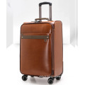 Fashion Pu leather travel business luggage suitcase