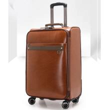 Moda Pu cuero viajes de negocios maleta de equipaje