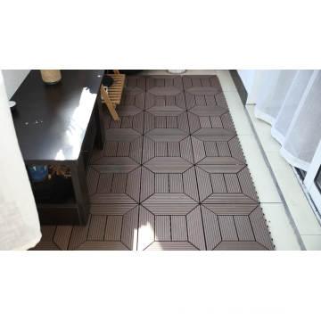 non-slip WPC outdoor interlocking decking tiles waterproof composite WPC DIY flooring