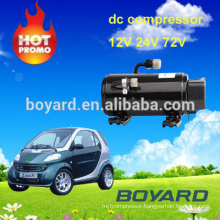 mini air conditioner for car with EV RV roof top mounted dc air conditioner compressor