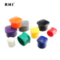 RHI PVC Customize size Hanging End Caps /hanger caps for steel rods / plastic hanger tips