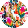 Serviettes de plage rondes personnalisées 100% coton