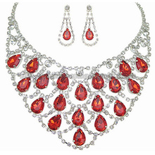 2014New Fashion Glass Stone Gemstone Bride Necklace