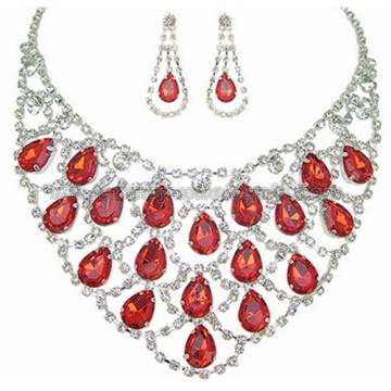 2014New стекло камень драгоценный невеста ожерелье