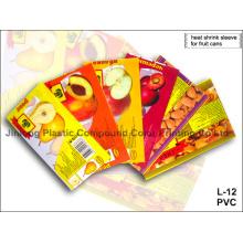 Etiqueta de manga para impressão em PVC