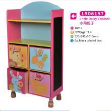 Gabinete de almacenamiento de gabinete de madera para niños para niños