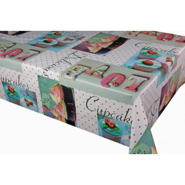 Pvc Printed fitted table covers Cotton Polyester