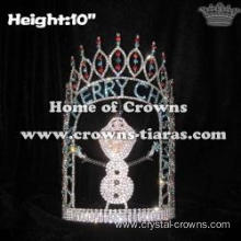 Custom Crystal Christmas Pageant Crowns With Olaf