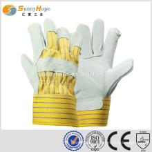 Sunnyhope 10.5 polegadas de palma da palma da vaca dividir as luvas de segurança