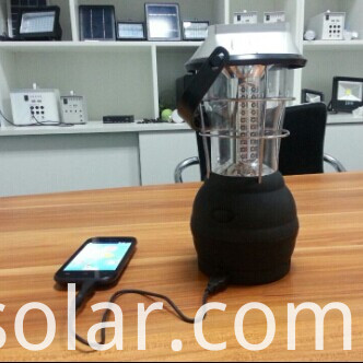 36leds solar lantern with mobile charging