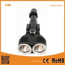 F40 Aluminium 10W Xml T6 LEDs 1200lumens Outdoor Taktische Taschenlampe