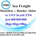 Shenzhen Sea Fregiht shipping to Bandar Abbas