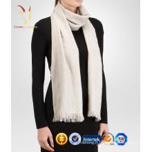 Écharpe en tricot de laine de couleur unie pour femme
