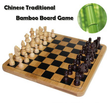 Xadrez de bambu clássico chinês feito à mão
