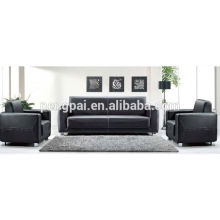 cheap price black pu leather office sofa