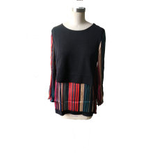 Spring Fashion Striped Colorful Elegant Camiseta de Mujer