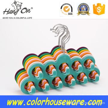 Multi hook Velvet hanger for tie