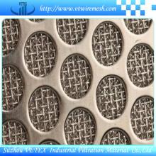Hoja de malla de alambre sinterizado perforado