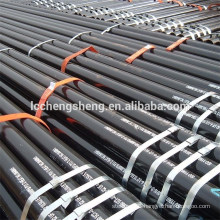 API 5L ASTM A53 A106 SEAMLESS STEEL PIPE WITH BLACK COATING BEVELLED ENDS