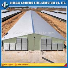 Estructura de acero de la estructura de acero de la estructura de la vertiente de las aves de corral barata para la venta