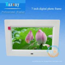 diseño súper delgado marco de fotos digital pequeño de 7 pulgadas