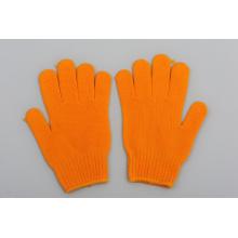Mejores guantes de algodón del trabajo Guante anaranjado al por mayor de China