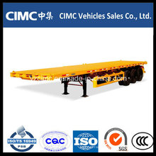 Cimc 40FT Flat Bed 3 Axles Container Semitrailer