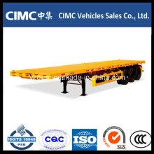 Cimc 40FT Flat Bed 3 Eixos Contentor Semi Reboque