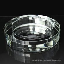 Usine vente divers largement utilisé meilleur vente clair cendrier ciggar cristal
