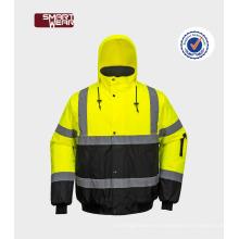 EN20471 al por mayor hola reflex abrigo de seguridad ropa de abrigo chaqueta de trabajo del hombre