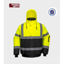 EN20471 atacado vis visivo segurança casaco casaco quente trabalho homem desgaste
