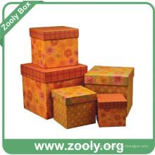 Cajas de papel de cartón impreso / caja de regalo de jerarquización rígida