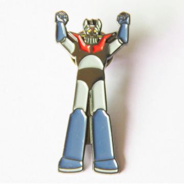 Metal Robot Lapel Pin dengan Black Nickle Disepuh