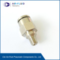Air-Fluid Brass Nickel-Plated Equal Five Way Connector.