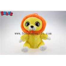 Olhos grandes amarelo leão brinquedo de pelúcia de pelúcia em preço de atacado Bos1171