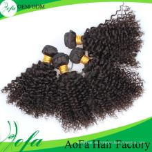 Natural negro 24 '' pelo mongol producto a granel extensión del pelo