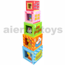 Wooden Nesting Blocks with Farm Animals (80967-1)