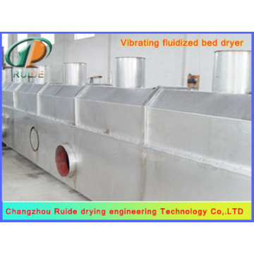 Vibrating fluidized bed dryers of raising material damp