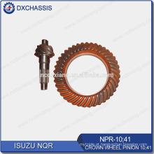 Engrenagem de pinhão genuína da roda de coroa de NQR 700P 10:41 NPR-10: 41